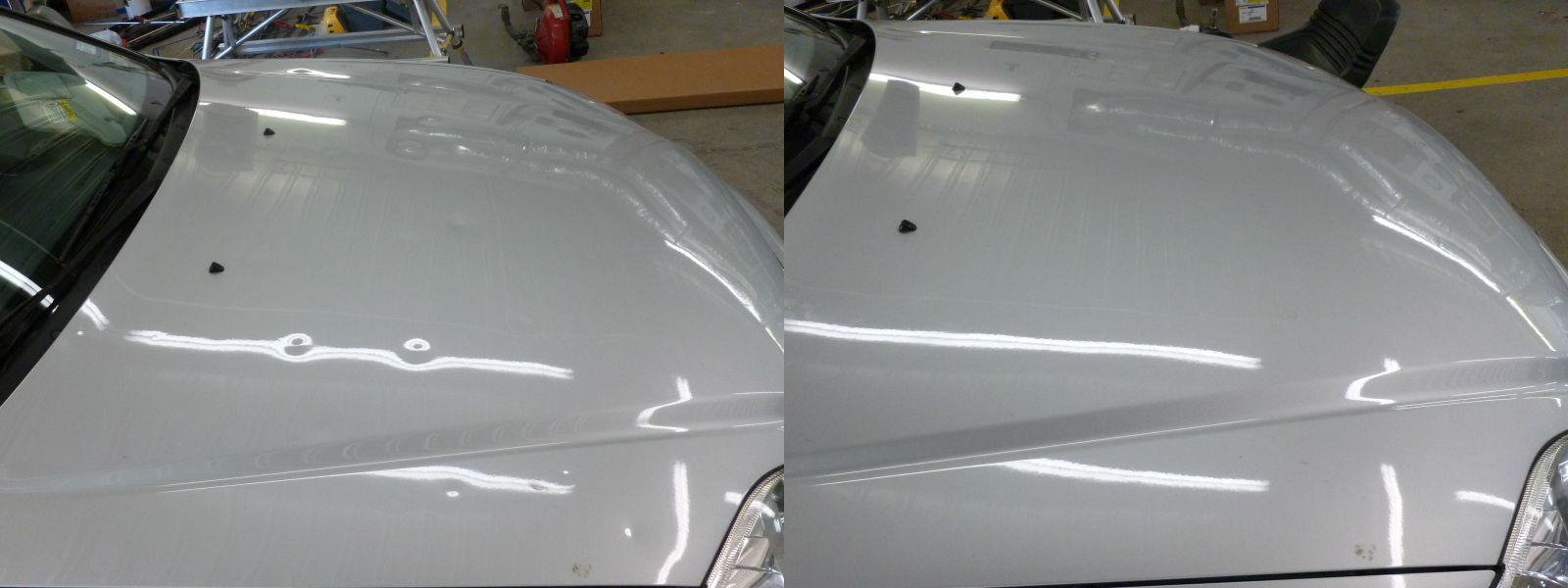 Как выпрямить крышу автомобиля своими руками видео